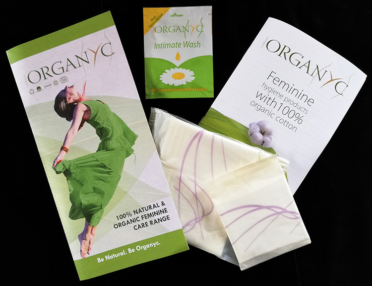 Organyc cotton feminine care